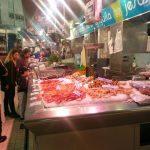 морские продукты на рынке