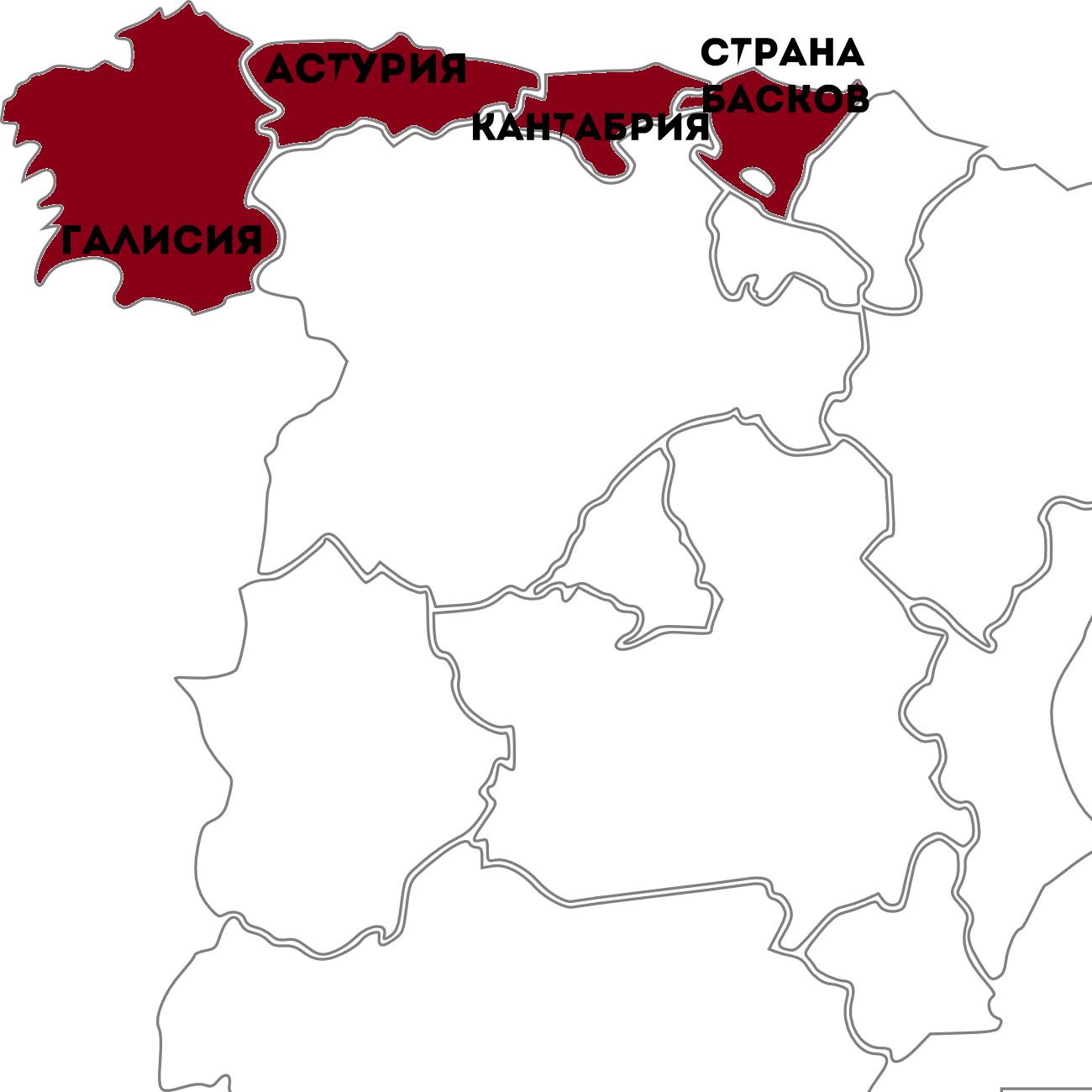 атлантическое побережье Испании