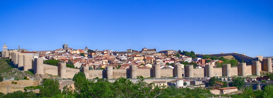 панорама города Авила